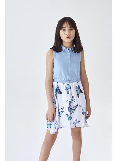 Guess Kız Çocuk Mavi Elbise 20SSGJ01K25 Mavi